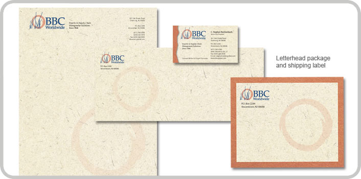 Letterhead package and shipping label