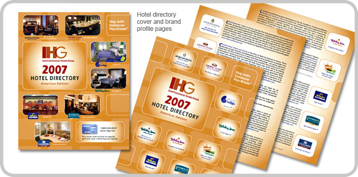 Hotel directory cover and brand profile pages