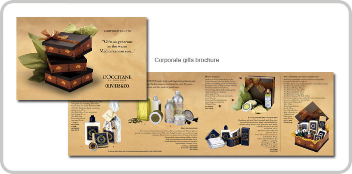 Corporate gifts brochure