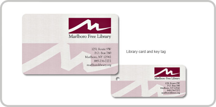 Library card and key tag