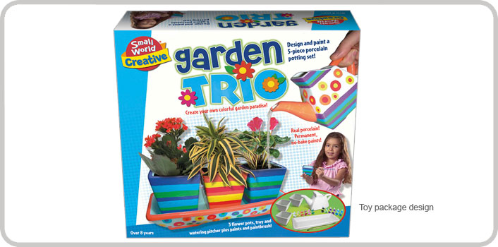Garden Trio packaging design.