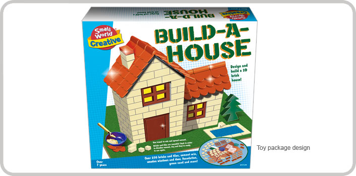 Build-a-House packaging design