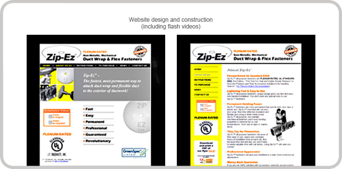 Website design and construction (including flash videos)