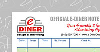 Official e-Diner Notepad